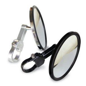 """5.0"""" Round CONVEX GLASS Billet Arm Side Mirror"""