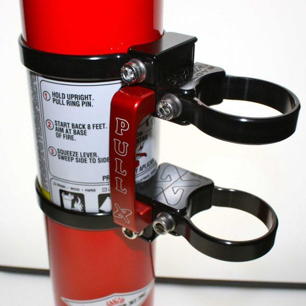 Quick release fire extinguisher mount w/ 2.5lb extinguisher