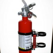 Quick release fire extinguisher mount w/ 2