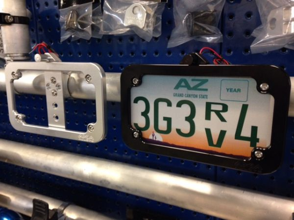 Tube Mounted LED License Plate Frame
